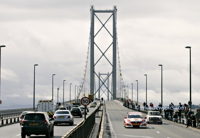 JIM CLARK 50TH ANNIVERSARY AND BTCC PARADE ACROSS THE FORTH ROAD